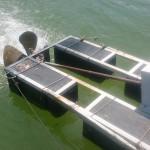海老養殖池の水車